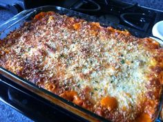 Olive Garden five-cheese ziti al forno~made this last night...it came out great! I'll definitely use this recipe in the future. I threw in some ground beef so I'll up the sauce mixture next time, but the flavors were great and the crust was perfect. Having it for leftovers tonight :)