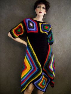 Fabulous Crochet a Little Black Crochet Dress Ideas. Georgeous Crochet a Little Black Crochet Dress Ideas. Crochet Cardigan, Crochet Shawl, Knit Crochet, Crochet Tops, Moda Crochet, Crochet Granny, Crochet Designs, Crochet Patterns, Sombrero A Crochet