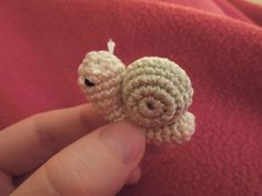 Micro Miniature Snail free pattern on Happy Berry Crochet at http://happyberrycrochet.blogspot.com/2012/12/crochet-micro-miniature-snail-pattern.html
