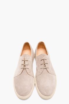 COMMON PROJECTS Taupe Suede Derby Sneakers