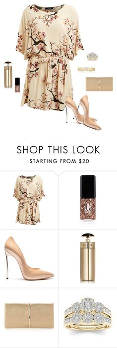 """桜の花"" by picassogirl ❤ liked on Polyvore featuring Lipsy, JINsoon, Casadei, Prada, Nina Ricci, Modern Bride and Effy Jewelry"