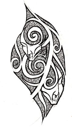 gemini - tribal tattoo concept by VanS3n