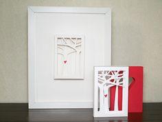 Matchbox-style tree valentine