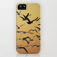 Seagulls at sunset iPhone & iPod Case by Zinchik's World - $35.00