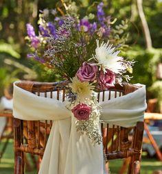 casamento boho - arranjo para cadeira