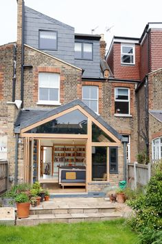 Alex Laidler and Steve Collett transformed their Victorian terrace with a kitchen extension that has a unique, bespoke look Kitchen Extension Cost, House Extension Design, Extension Designs, Roof Extension, Extension Ideas, Kitchen Extension Exterior, Garden Room Extensions, House Extensions, Bungalow Extensions