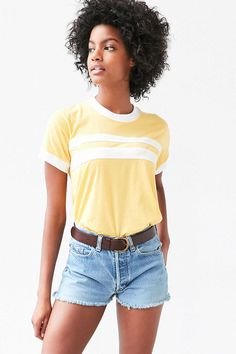 Camp Collection & UO Striped Ringer Tee #CAMPxUO #campcollection @urbanoutfitters