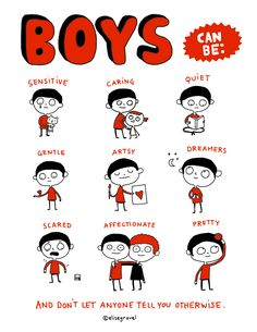 "You liked the ""Girls can be"" mini-poster and many of you asked if I would make a boys version. Here it is! Teachers and parents, feel free to print it for your classrooms and at home (no commercial use, please). Click here for …"