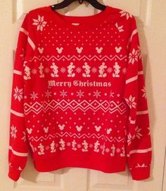 Mickey and Minnie Disney Tacky Ugly Christmas sweater size Extra ...