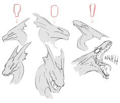 Pin by on Drachen in 2019 Animal Sketches, Animal Drawings, Cool Drawings, Art Sketches, Drawing Reference Poses, Drawing Poses, Drawing Tips, Dragon Anatomy, Dragon Sketch
