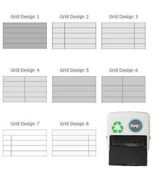 Self Inking Grid Stamps