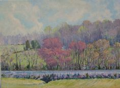 Spring Along the Tracks oil 18x24 $1250 Ramey Campbell