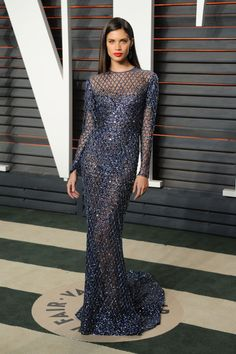 Sara Sampaio in Zuhair Murad Vanity Fair Oscar After-Party 2016