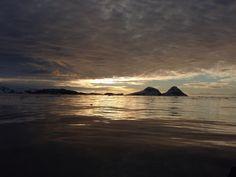 Antarctic sunset 11pm