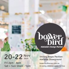 Not long now till my debut at the gorgeous Bowerbird Design Market @bowerbirdbazaar and I'm giddy with anticipation! Whose coming to check it out? #bowerbird #NzuriOrganics