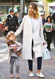 The+Foolproof+Mom+Wardrobe:+A+Jessica+Alba+Case+Study+via+@WhoWhatWear