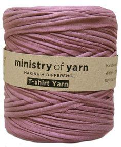 Ministry of Yarn purple t-shirt yarn Australia