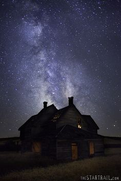 Farmhouse under the stars, by one of my favorite night photogs! (Waiting. by Ben Canales, via Flickr)