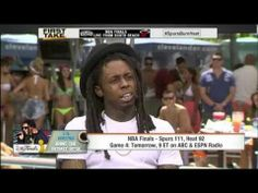 Watch: Lil Wayne Talks NBA Finals with Stephen A. Smith & Skip Bayless- http://img.youtube.com/vi/K6ee4cCZ4yw/0.jpg- http://getmybuzzup.com/watch-lil-wayne-talks-nba-finals-stephen-smith-skip-bayless/- Rapper Lil Wayne dropped by ESPN's First Take; he talks about about the NBA finals & who he thinks is going to win the championship.Enjoy this video stream below after the jump. Follow me:Getmybuzzup on Twitter Getmybuzzup on Facebook Getmybuzzup on Google