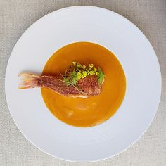 Crispy red mullet whipped saffron bouillabaisse topped micro scallion and mustard flower #foodstarz_official #fit #foodpic #theartofplating #foodartistry #foodie #gourmet #foodartchefs #foodporn #yummy #grateplates #delicious #food #cookniche #foodphotography #gastroart #cleaneats #eat #gourmetartistry #instagood #gastronomy #finedining #saveurmag #bonappetite #simplisticfood #discoveringchefs #foodgasm #chefsofinstagram #chefsroll #chefstalk