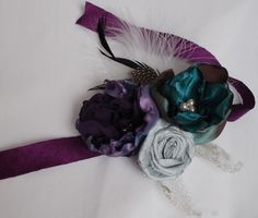 Fun alternative to a real flower wrist corsage