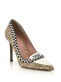 Kate Spade New York - Lexie Glitter & Patent Leather Taxi Pumps