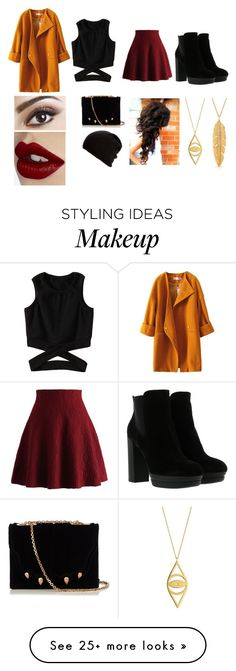 """As Autumn Leaves"" by uniquedifference on Polyvore featuring Chicwish, Hogan, Marco de Vincenzo, Belmondo, Charlotte Tilbury, Jennifer Zeuner, Anne Sisteron, orangeandblack and colorchallenge"
