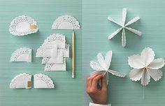Adornos de navidad con blondas de papel (estrella puntero y angel) : VCTRY's BLOG