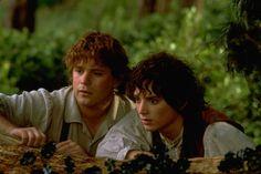 """Sean Astin and Elijah Wood in """"Il signore degli anelli - La compagnia dell'anello"""" (2001)"""