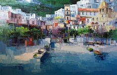 Antonio Di Viccaro Art For Sale - 25 Listings Selling Art Online, Online Art, Mixed Media Painting, Painting On Wood, Positano, Artist Bio, Ad Art, Italian Artist, Anton