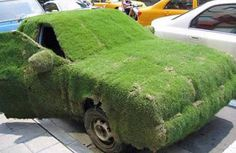 if you pour water on grass squares they will stay on cars.