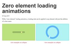 Zero Element Loading Animations, #Animation, #Code, #CSS, #CSS3, #HTML, #HTML5, #Loader, #Loading, #Resource, #Snippets, #Tutorial, #Web #Design, #Development