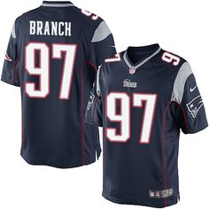NFL New England Patriots Alan Branch Youth Limited Home Navy Black #97 Jersey