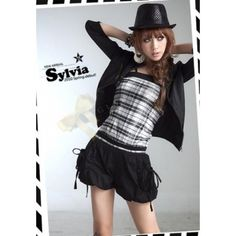 Strappy Jumpsuit with Balloon Shorts in Checkered Style $39.90 at www.Glamorazzi.com.au