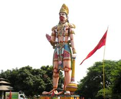 Hanuman Vatika is a beautiful temple. It is situated in Rourkela City of Odisha, India. The height of the statue is 75 feet. Every year on 23 February it celebrates its foundation day.