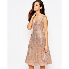 Lashes Of London Razzle Metallic Bandeau Midi Prom Dress ($43) ❤ liked on Polyvore featuring dresses, gold, white prom dresses, gold cocktail dress, off the shoulder prom dresses, white off the shoulder dress and white dress