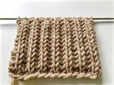knitting patterns BRIOCHE STITCH / le point de tricot côte anglaise / вязание Английская резинка - YouTube