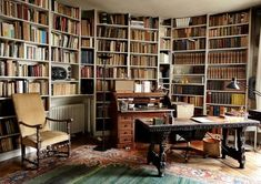 Home Room Design, Interior Design Living Room, Library Study Room, Writers Desk, Office Nook, Study Office, Under Stairs Cupboard, Room Of One's Own, Bookcase Styling