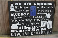 Doctor Who Inspired Signs!