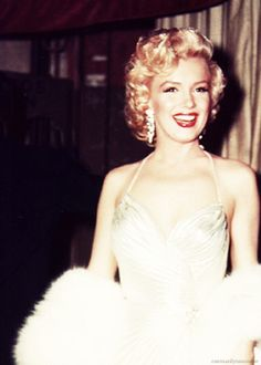 Marilyn Monroe at a children's benefit at the Shrine Auditorium, Los Angeles. Photo by Phil Stern, December 4th 1953.