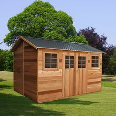 Willow 12x8 Timber Garden Shed 3.64m x 2.53m with Gable Roof