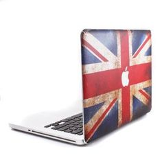 GMYLE UK Flag with Apple Cutout Protective Decal Vinyl Skin Sticker for Apple MacBook White/Macbook Pro/Macbook Air 13-Inch/13.3-Inch: Computers & Accessories