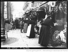 La Toussaint à Paris [fleurs et couronnes