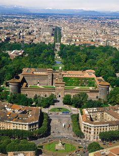 The amazing Castello Sforzesco, Milano