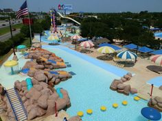 Splashtown San Antonio    The Splashtown San Antonio opened in 1985 and originally named as the Water Park USA. It is currently named as the Splashtown USA. The wave pool of the water park contains about half million gallons. It features 40 tube rides and water slides and the lazy river which has a length of a quarter mile. It also has an activity pool for sports activities.