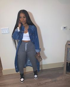 how to style outfits Cute Swag Outfits, Chill Outfits, Cute Comfy Outfits, Dope Outfits, Teen Fashion Outfits, Stylish Outfits, Winter Swag Outfits, Black Girls Outfits, Black Girl Fashion
