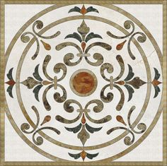 Luxurious home and hotel decorative natural marble stone waterjet medallion