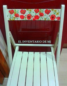 Silla  respaldo  decoupage # elinventariodemj.blogspot.com.es