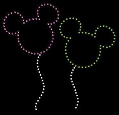 Mickey Mouse Balloons Rhinestone Transfer DIY Disney Handmade Bling