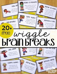 20 Free Wiggle Brain Breaks to wake up the brain and body - This Reading Mama